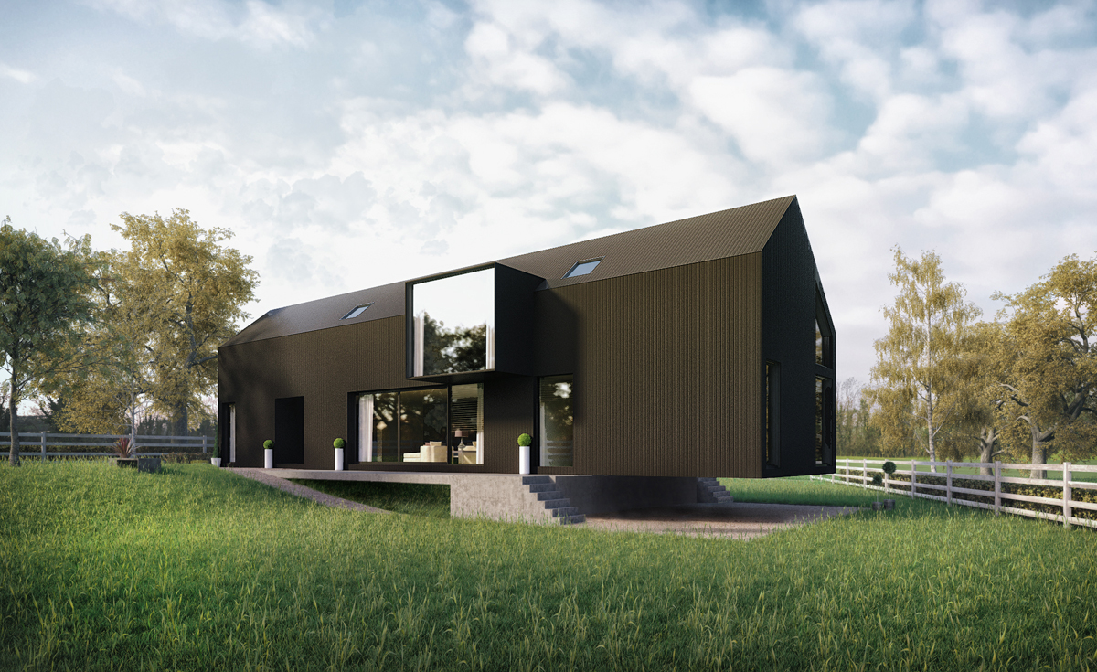 2020 Architects black micro corrugated sheeting