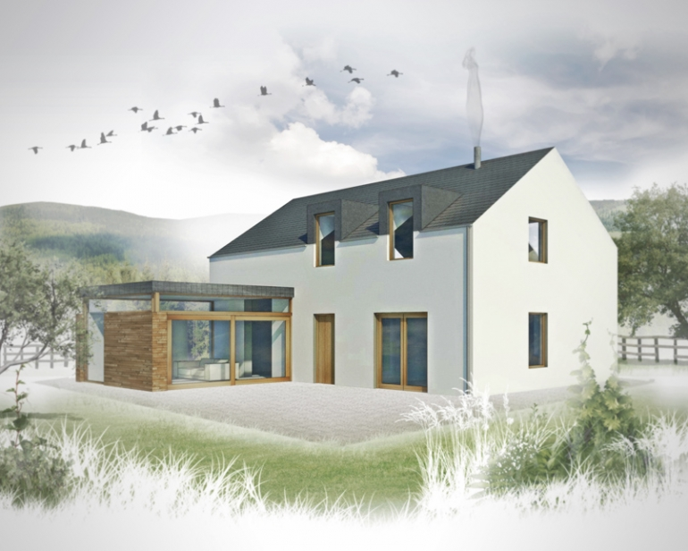 3 bed contemporary house plans the haven for Modern house designs uk