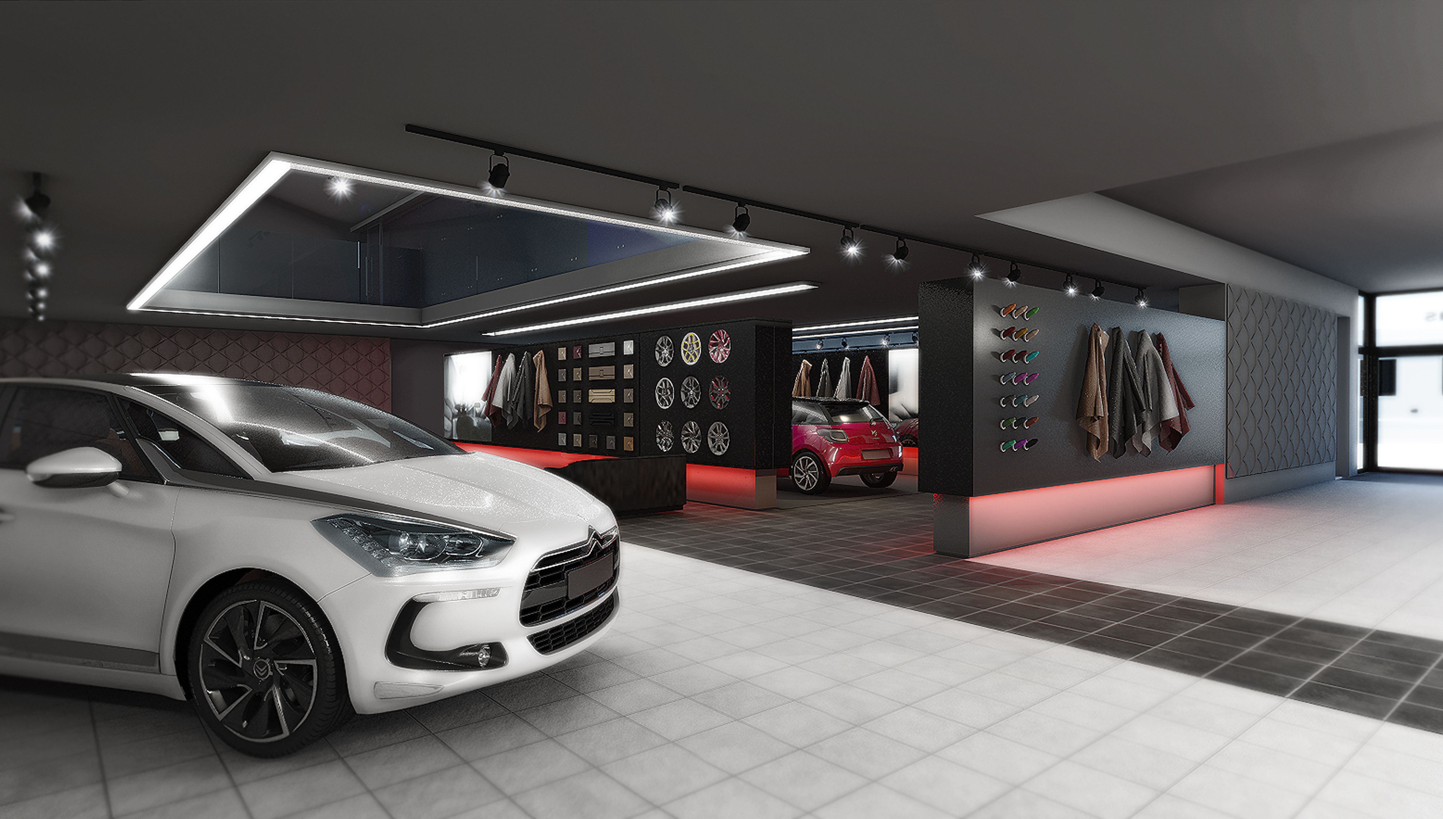New car showroom project for Car showroom exterior design