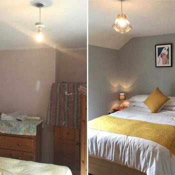 Bedroom redecoration by Tara O'Connell