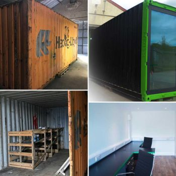 Used Shipping Container To Office By Michael Clarke