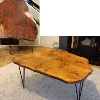 Upcycle of coffee table by Neil Freeburn