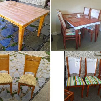 Table & Chairs Upcycle Joanne Cooney