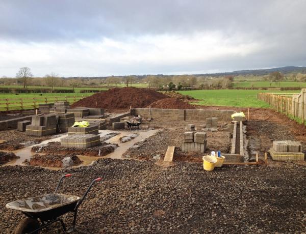 Progress on 'The Haven' at Ballyrobin