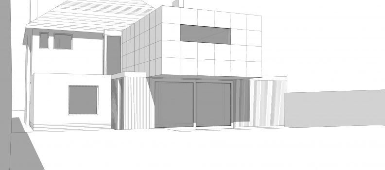 Initial design for new house extension