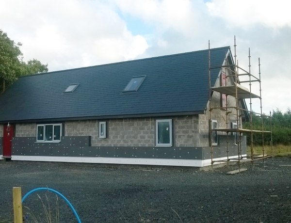 Insulating begins on the Eco Cottage